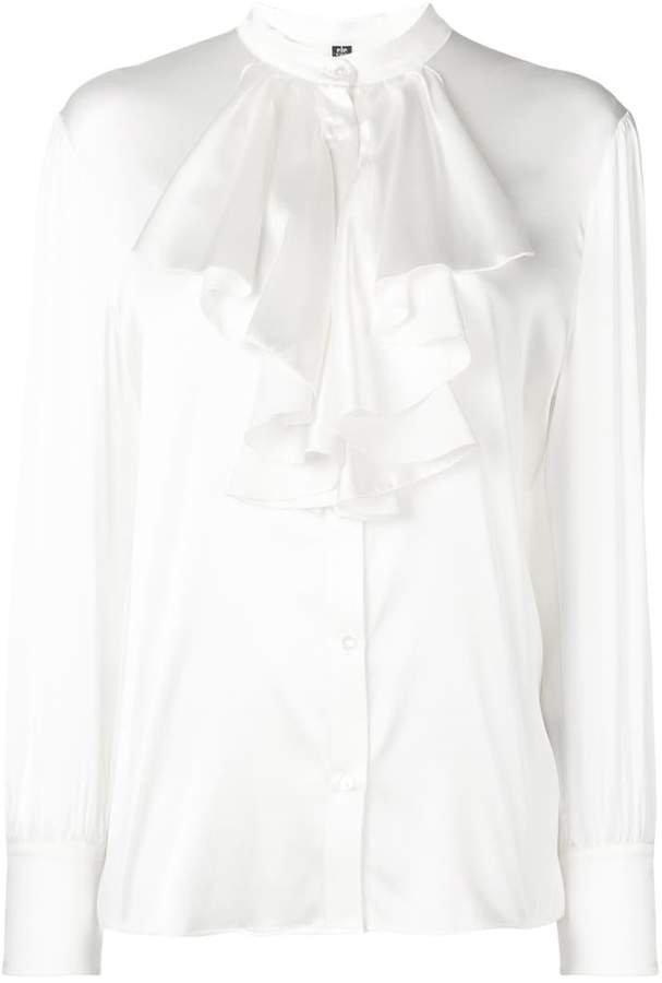 ruffle bib shirt