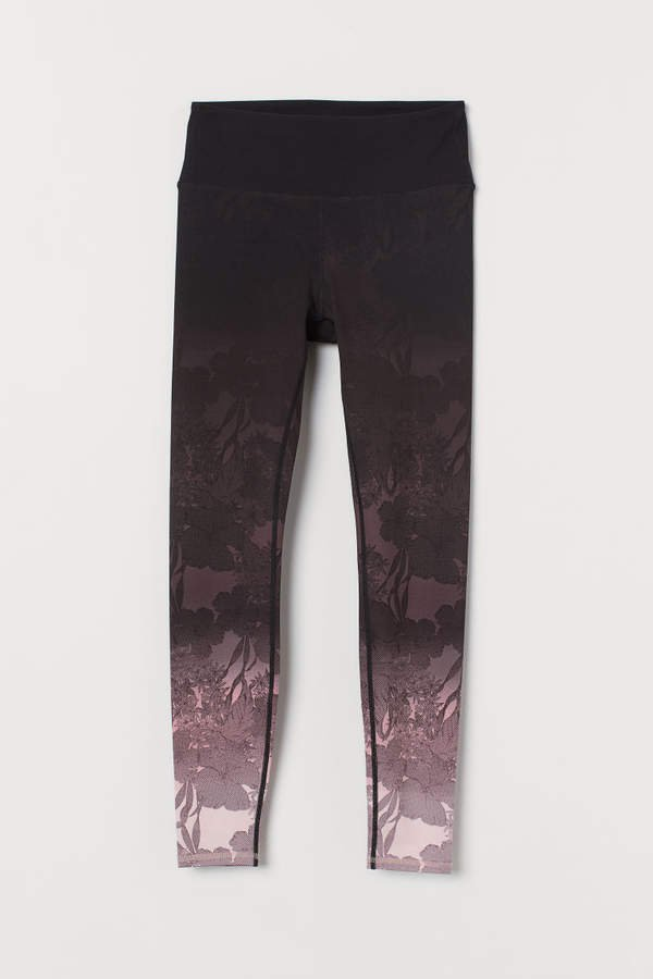 Bum sculp detail tights - Black