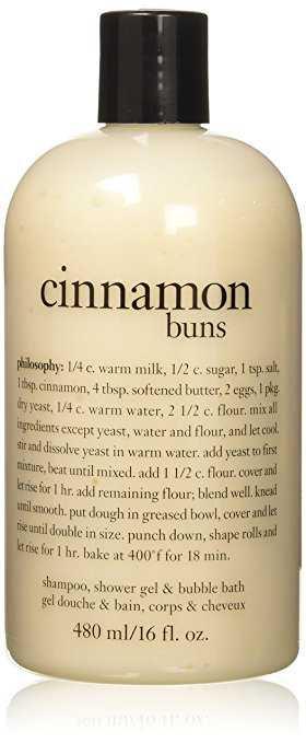Amazon.com : Philosophy Cinnamon Buns Shampoo, Shower Gel and Bubble Bath, 480 ml/16 oz. : Beauty