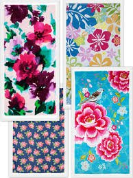 flower towels - Google Search