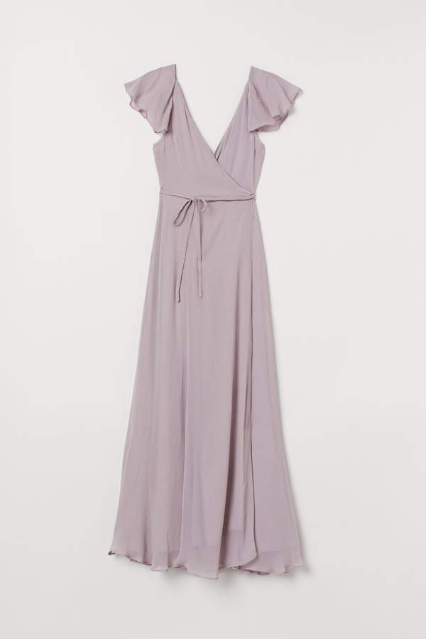 Long Wrap Dress - Purple