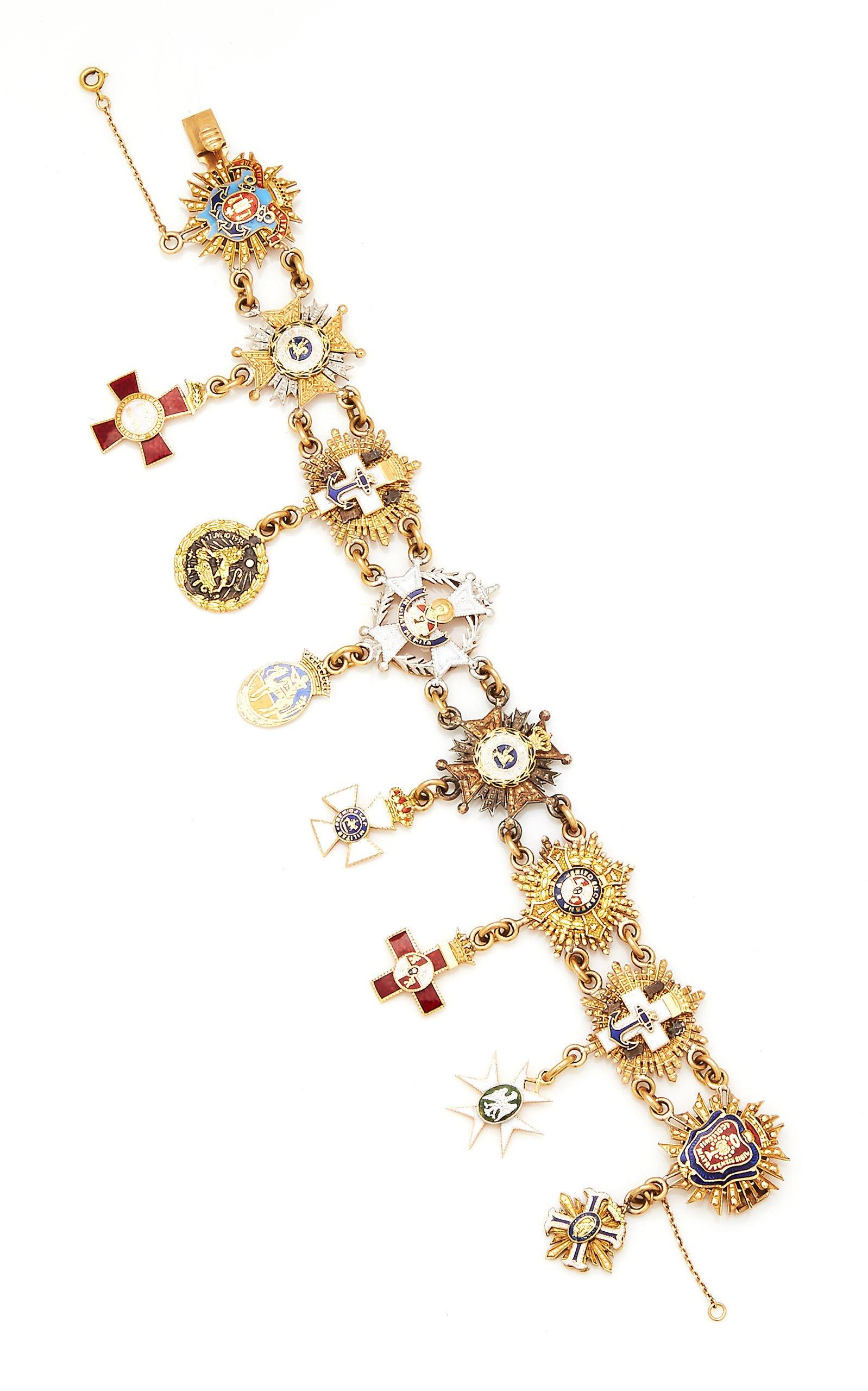 Eleuteri Vintage Movado Gold and Diamond Serpent Bracelet-Watch