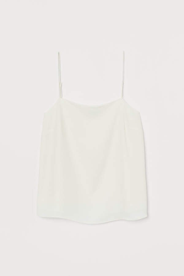Creped Camisole Top - White