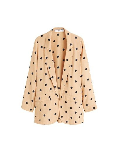 MANGO Structured polka-dot blazer