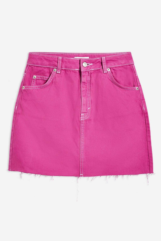 Purple Denim Skirt - Topshop