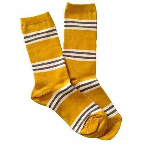 Yellow Striped Socks - @byepolyvore PNG Collection