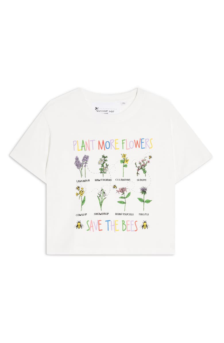 Topshop By Tee & Cake Save the Bees Tee white