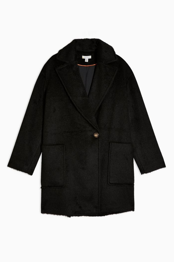 Black Double Breasted Coat | Topshop black