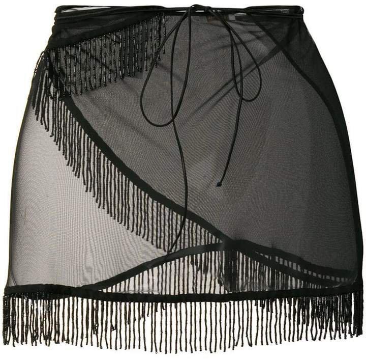 Oseree mini skirt beach cover-up