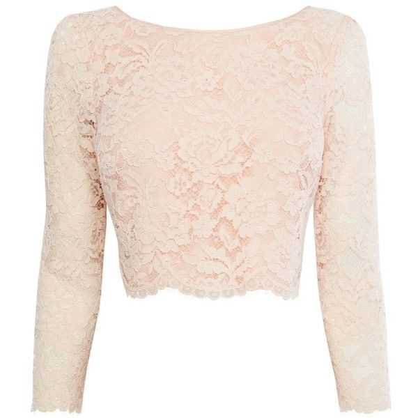 Crop Top - Pink Lace