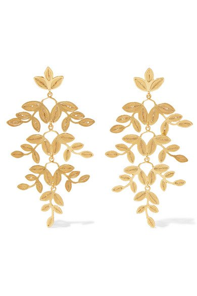 Mallarino | Gabriella gold vermeil earrings | NET-A-PORTER.COM