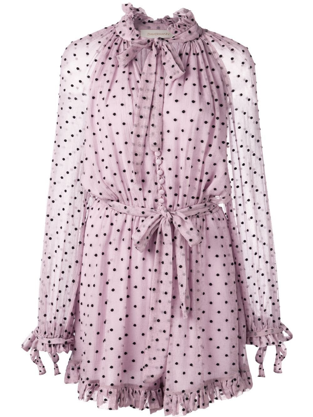 Zimmermann polka dot print playsuit $695 - Buy Online - Mobile Friendly, Fast Delivery, Price