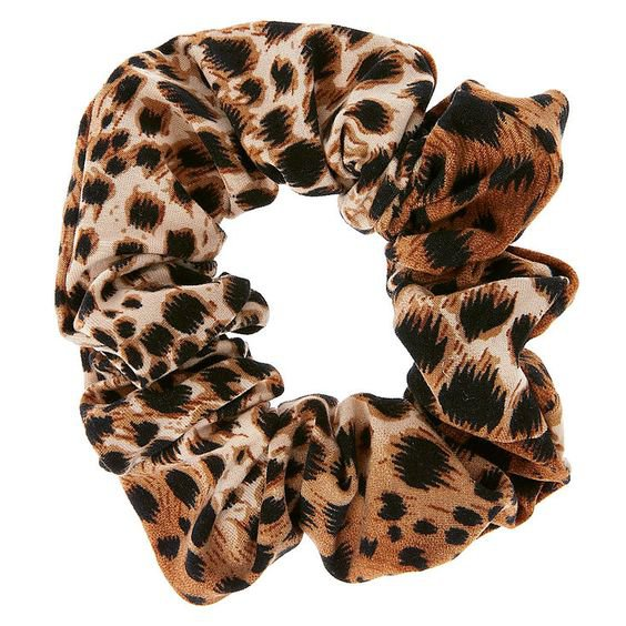 Leopard Print Hair Scrunchie