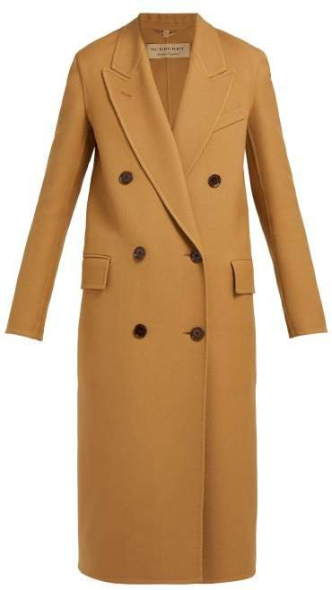 Theydon Double Breasted Wool Blend Coat - Womens - Camel