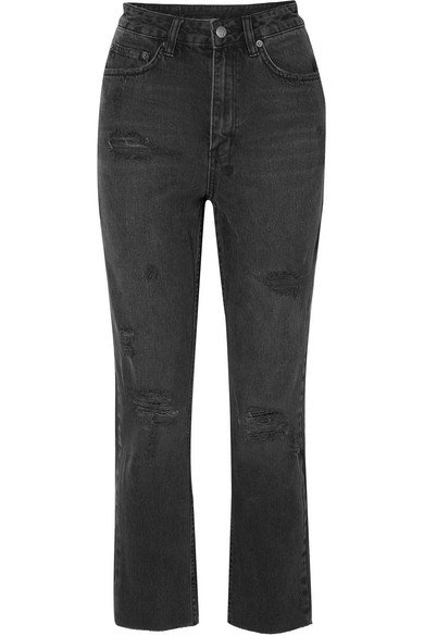 Ksubi | Chlo Wasted Castor Oil cropped distressed high-rise slim-leg jeans | NET-A-PORTER.COM