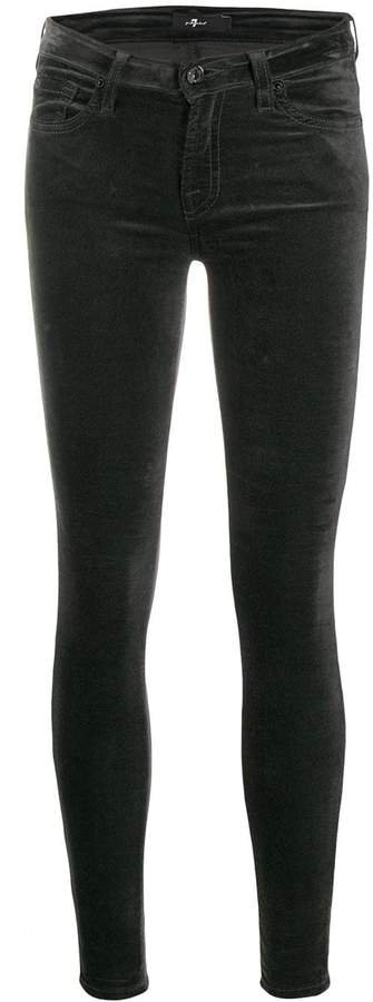 low-rise skinny trousers
