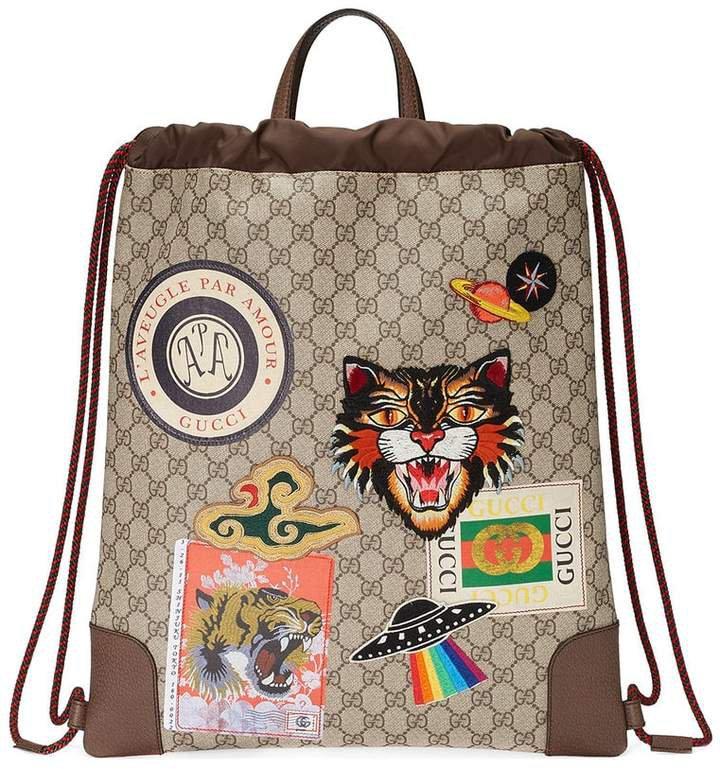 Courrier soft GG Supreme drawstring backpack
