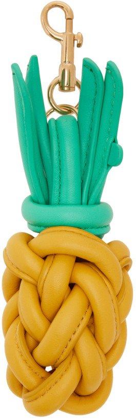 Anya Hindmarch: Yellow Pineapple Charm Keychain   SSENSE