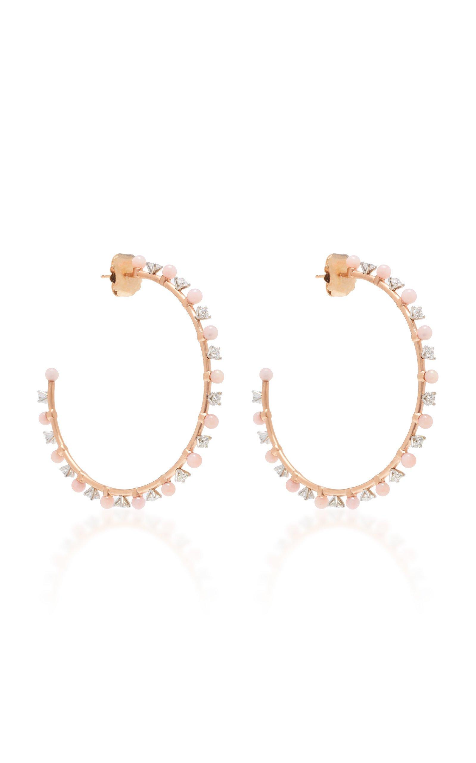 Irene Neuwirth One-Of-A-Kind 18K White And Rose Gold Hoop Earrings