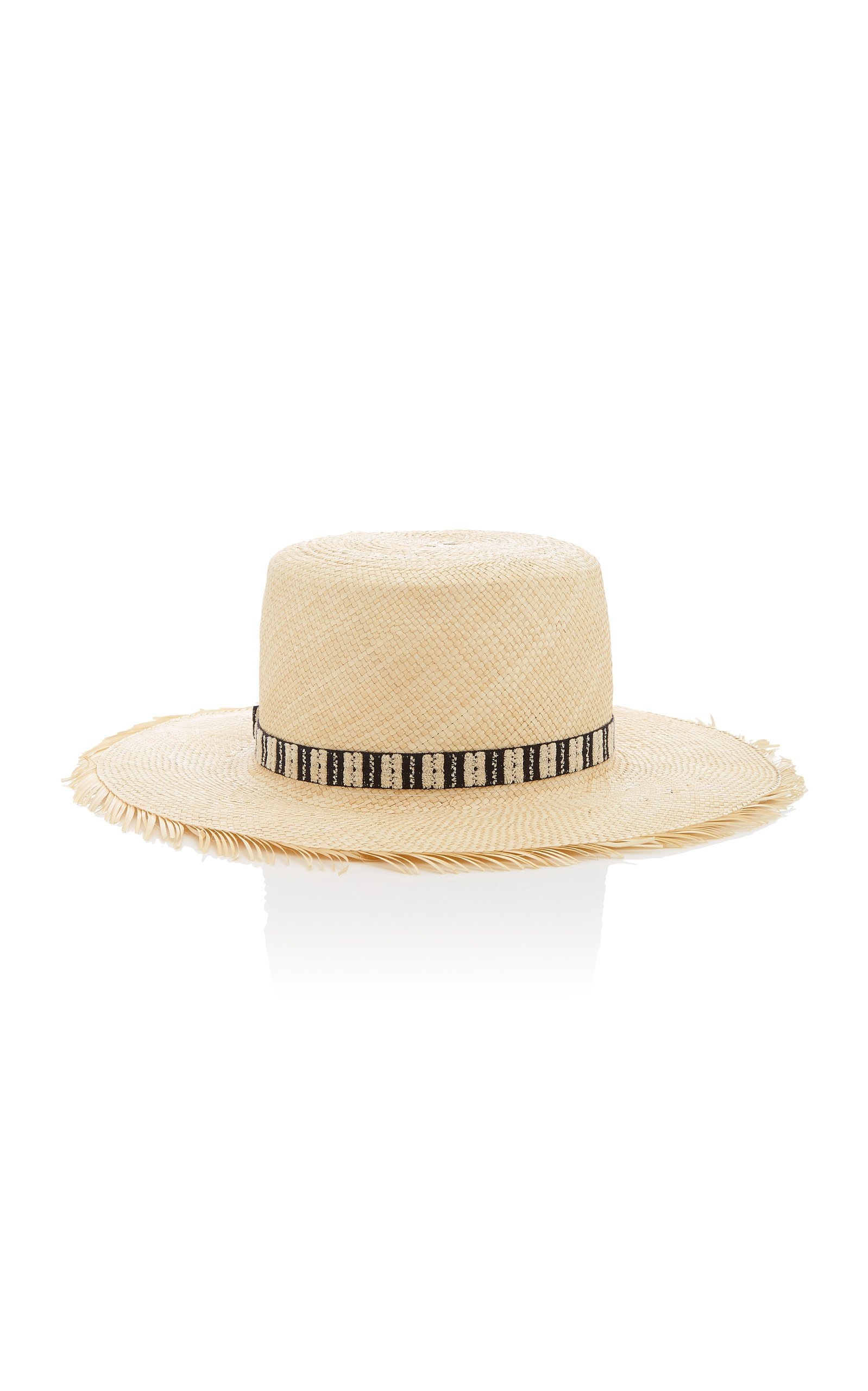 Yestadt Millinery Compass Frayed Straw Hat Size: S