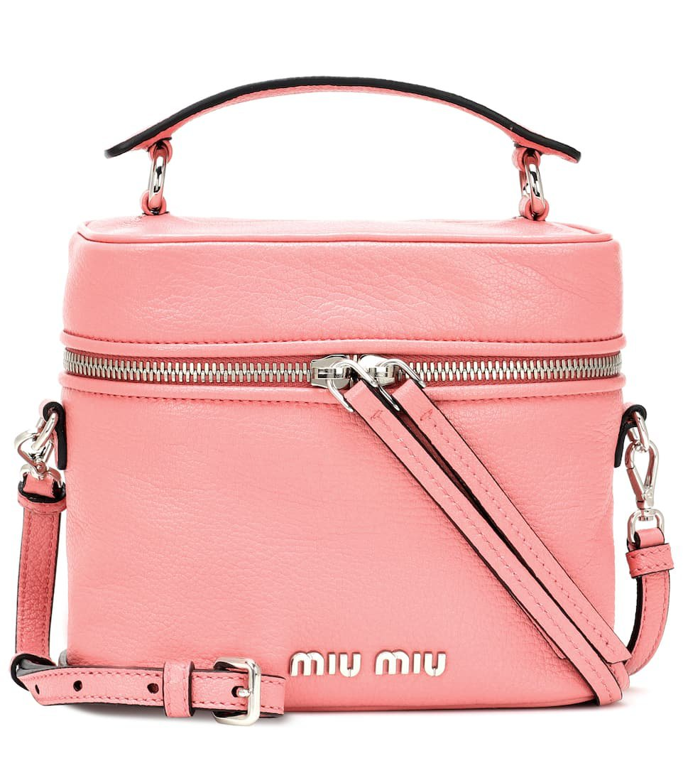 Leather Shoulder Bag - Miu Miu   mytheresa