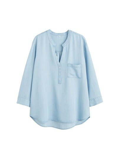 Violeta BY MANGO Denim style soft  shirt