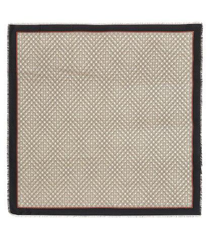GG silk-blend scarf