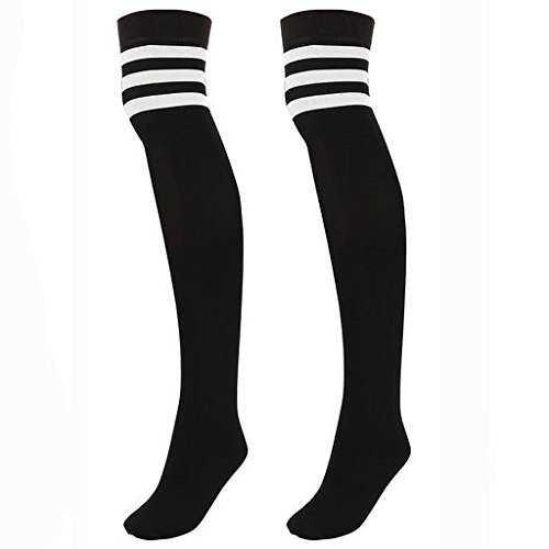 black knee high socks with white stripes - Google Search
