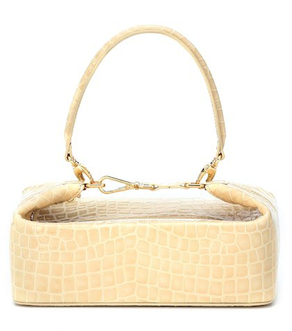 Olivia embossed leather tote