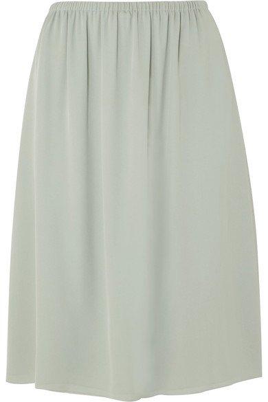 Theory | Silk-crepe skirt | NET-A-PORTER.COM