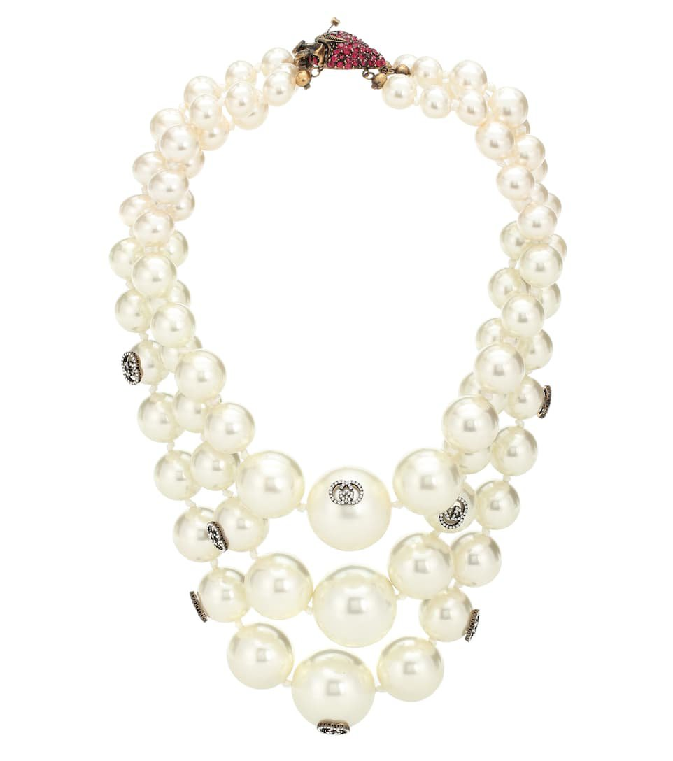 Strawberry Faux Pearl Necklace - Gucci | Mytheresa