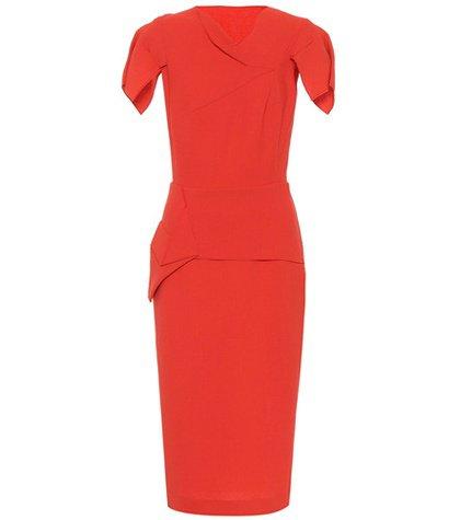 Vernon wool-crêpe dress