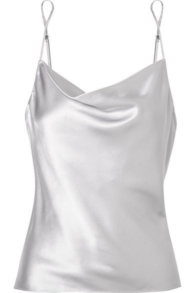 Fleur du Mal | Draped silk-charmeuse camisole | NET-A-PORTER.COM
