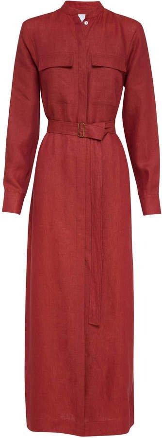 Bondi Born Utility Linen Shirt Dress Size: S