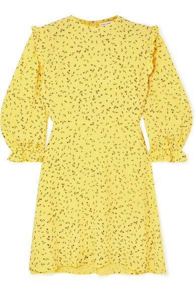 Faithfull The Brand | Edwina ruffled floral-print crepe mini dress | NET-A-PORTER.COM