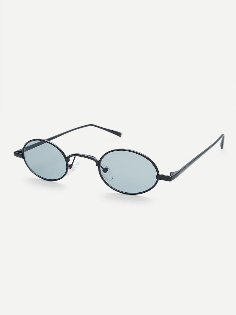 Metal Frame Oval SunglassesFor Women-romwe