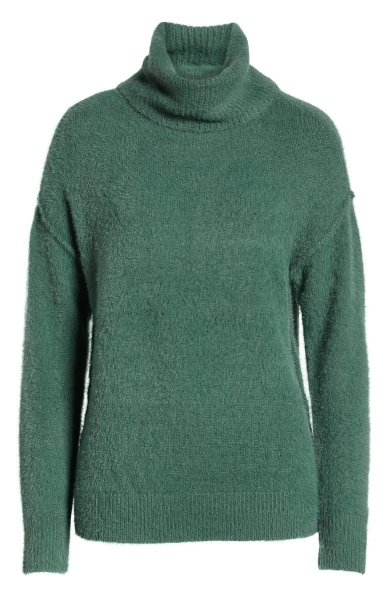 Caslon® Turtleneck Sweater green
