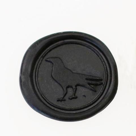 black wax stamp raven - Google Search