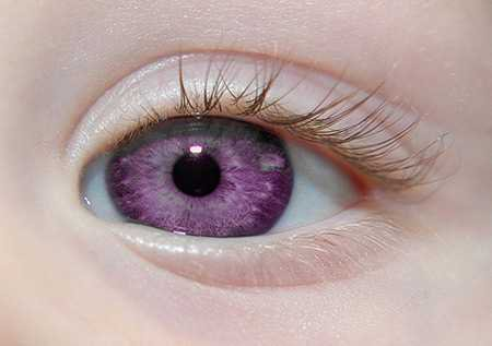 purple eyes