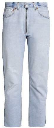 Re/Done By Re/done By Faded High-rise Straight-leg Jeans