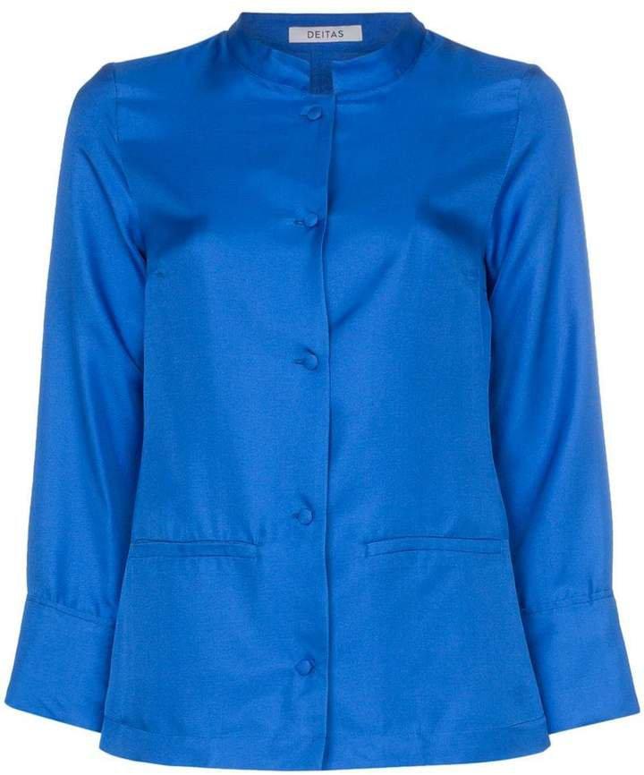 Deitas china button down silk blouse