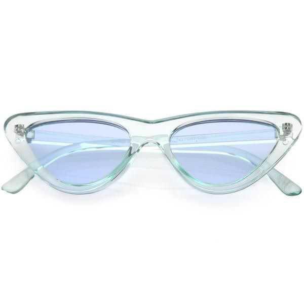 cat eye transparent sunglasses