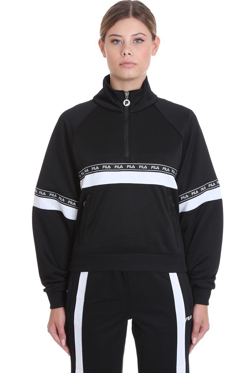 Fila Chinami Sweatshirt In Black Cotton