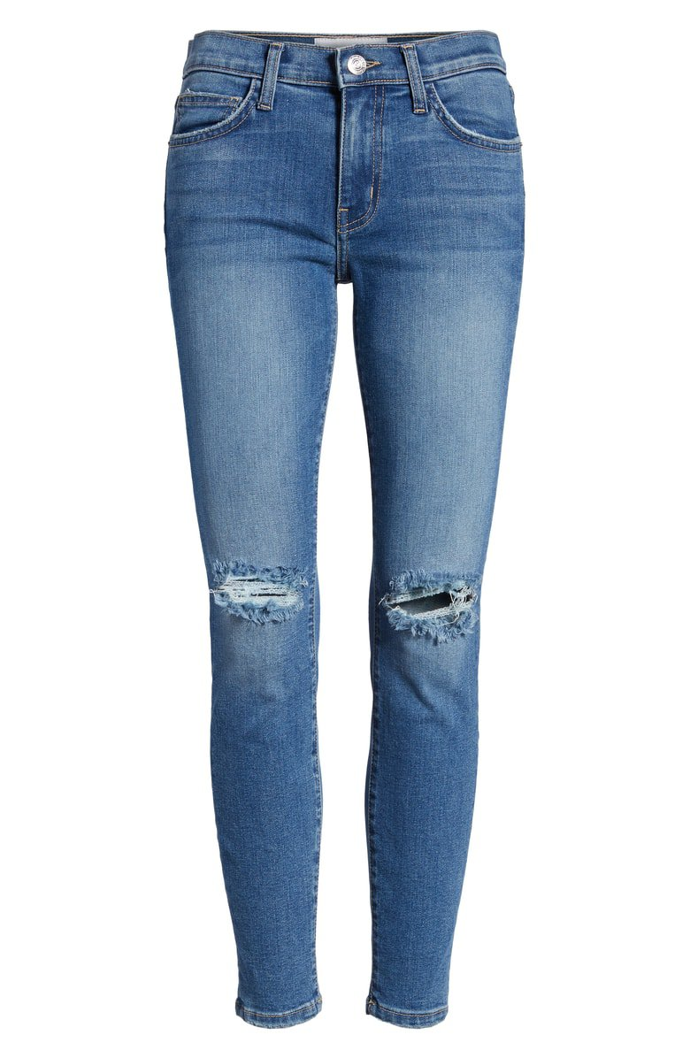 Current/Elliott The Stiletto Ripped Skinny Jeans (2 Year Destroy) | Nordstrom