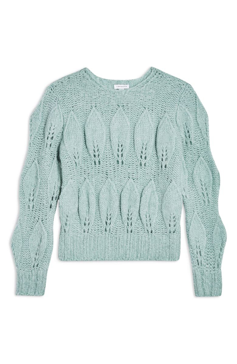 Topshop Petal Pointelle Sweater | Nordstrom