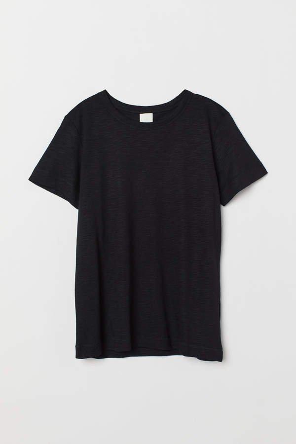 Slub Jersey T-shirt - Black
