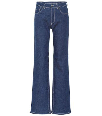 Blå Konst high-rise flared jeans