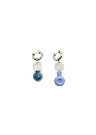 MANGO Crystals aysmmetric earrings