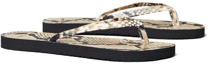 Printed Leather Flip-Flop