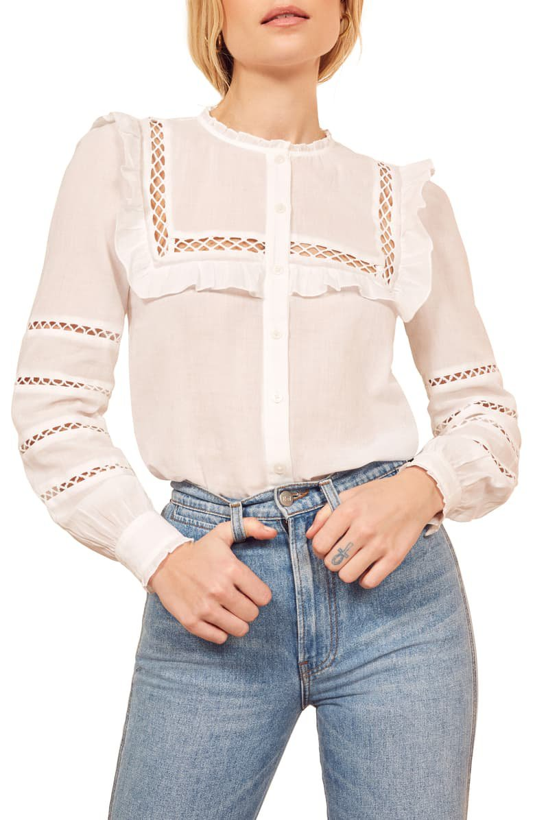 Reformation Rosey Blouse   Nordstrom